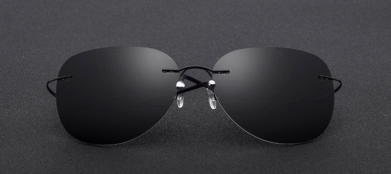 Frameless Polarized Aviator Sunglasses